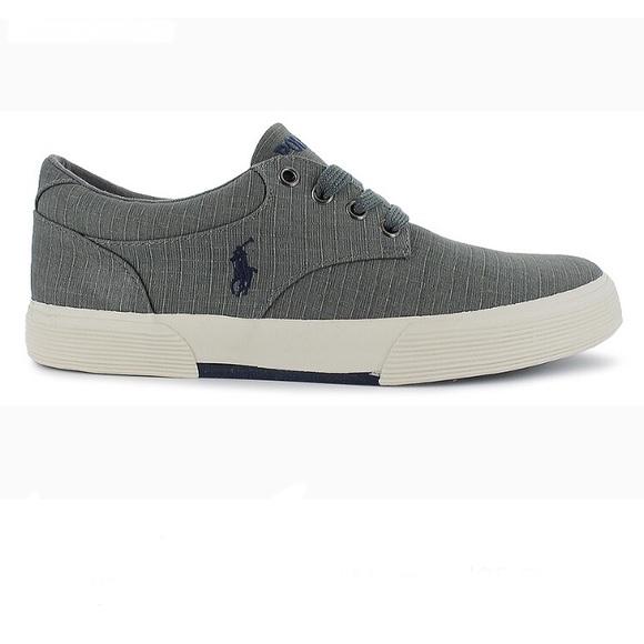 280200611 Men s Ralph Lauren Polo Felton sneakers grey
